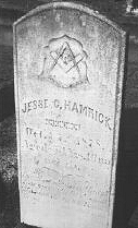 Masonic headstone