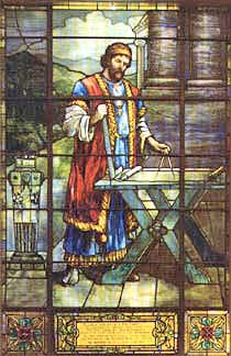 Hiram Abif stained glass