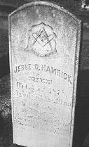 Masonic grave headstone
